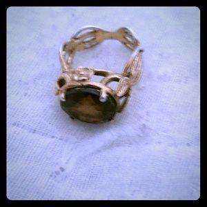 Ladies vintage  Dusty topaz ring